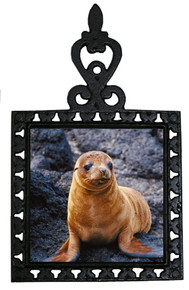 Sea Lion Iron Trivet