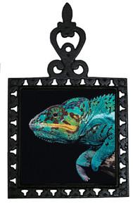 Chameleon Iron Trivet