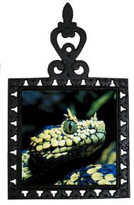 Viper Snake Iron Trivet