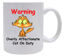 Affectionate Cat On Duty: Mug