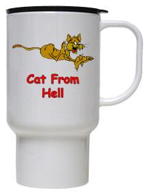 Cat From Hell: Travel Mug