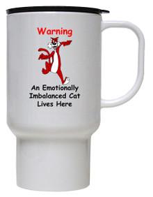 Emotionally Imbalanced Cat: Travel Mug