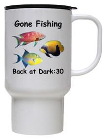 Gone Fishing: Travel Mug