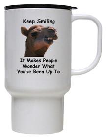 Keep Smiling: Travel Mug