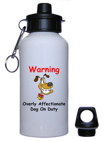 Affectionate Dog On Duty: Water Bottle