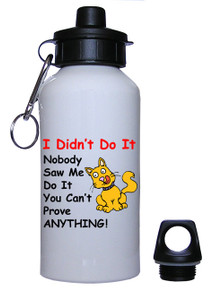 Cat Didn't Do It: Water Bottle