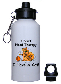 I Don't Need Therapy Cat: Water Bottle