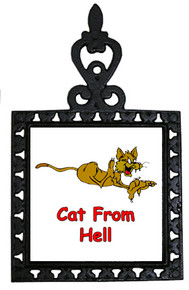 Cat From Hell: Trivet