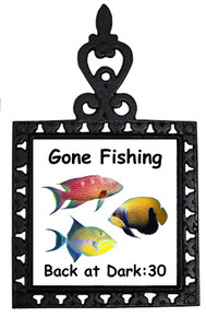 Gone Fishing: Trivet