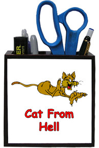 Cat From Hell: Pencil Holder