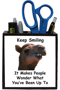 Keep Smiling: Pencil Holder