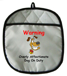 Affectionate Dog On Duty: Pot Holder