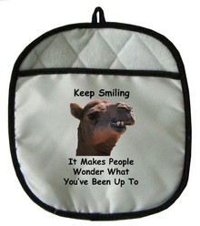 Keep Smiling: Pot Holder