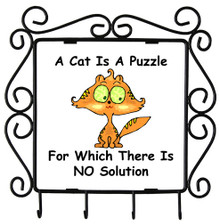 Cat Is A Puzzle: Metal Key Holder