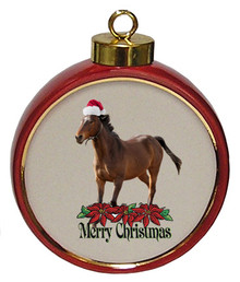 Arabian Ceramic Red Drum Christmas Ornament