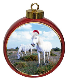 Camargue Ceramic Red Drum Christmas Ornament