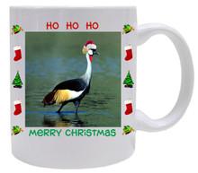 Crowned Crane  Christmas Mug