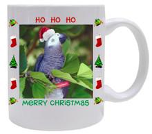African Grey Parrot  Christmas Mug