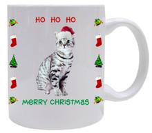 American Shorthair Cat Christmas Coffee Mug