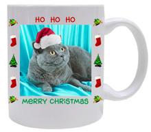 British Shorthair Cat Christmas Coffee Mug