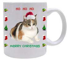 Calico Cat Christmas Coffee Mug