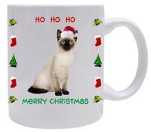 Siamese Cat Christmas Coffee Mug