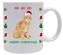 Tabby Cat Christmas Coffee Mug