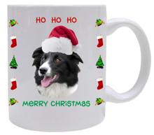 Border Collie Christmas Mug