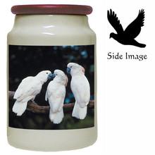 Cockatoo Canister Jar