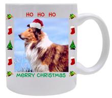 Collie Christmas Mug