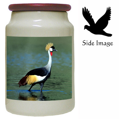 Crowned Crane Canister Jar