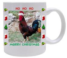 Rooster Christmas Mug