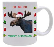 Moose Christmas Mug