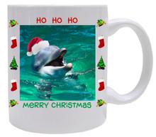 Dolphin Christmas Mug