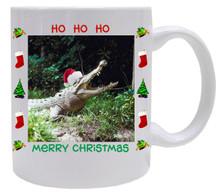 Crocodile Christmas Mug