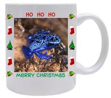 Blue Frog Christmas Mug