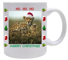 Cheetah Christmas Mug