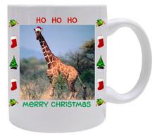 Giraffe Christmas Mug