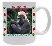 Gorilla Christmas Mug