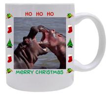 Hippo Christmas Mug
