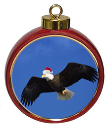 Eagle Ceramic Red Drum Christmas Ornament