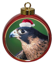 Falcon Ceramic Red Drum Christmas Ornament