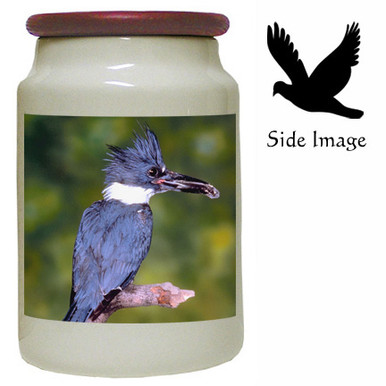 Belted Kingfisher Canister Jar