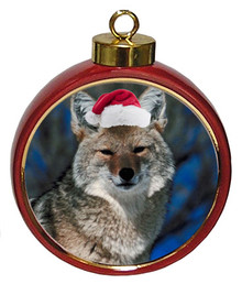 Coyote Ceramic Red Drum Christmas Ornament