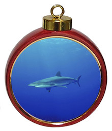 Shark Ceramic Red Drum Christmas Ornament