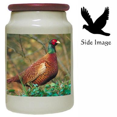 Pheasant Canister Jar