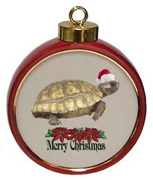Turtle Ceramic Red Drum Christmas Ornament