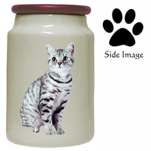 American Shorthair Cat Canister Jar