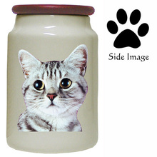 American Shorthair Cat Canister Jar