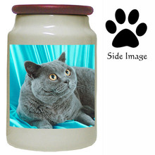 British Shorthair Cat Canister Jar